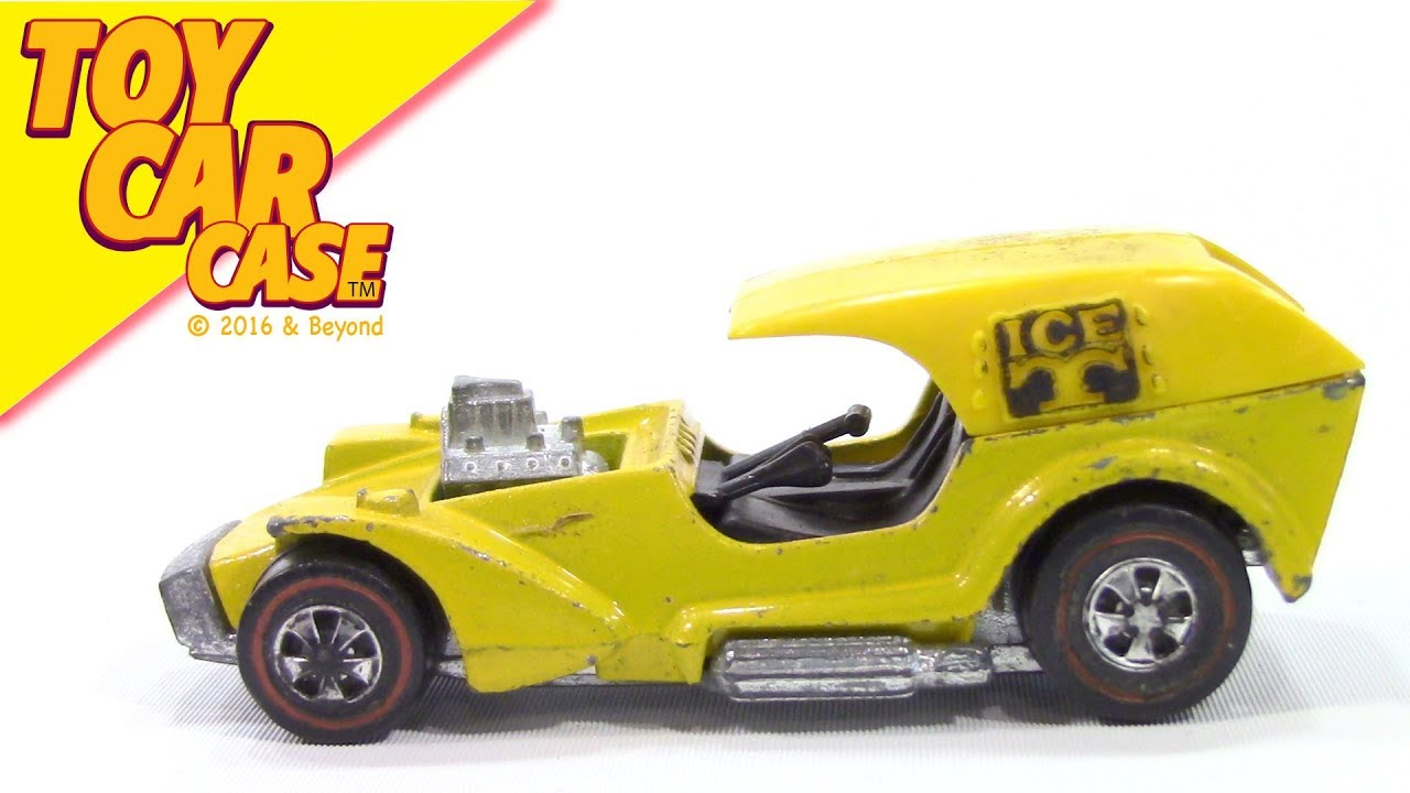 Hot Wheels Red Line Td Ice T 1968 Yellow Toy Car Case Youtube