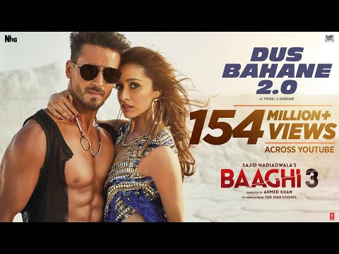 Dus Bahane 2.0 Lyrics - KK, Shaan, Tulsi Kumar | Baaghi3 | Sad Lyrics