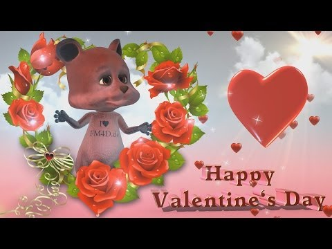 Valentinstag Happy Valentine s Day Sch nes animiertes Video
