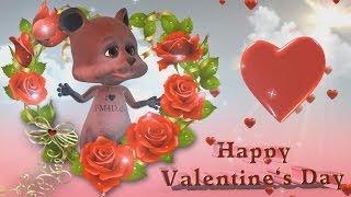 Valentinstag Happy Valentine's Day. Schönes Animiertes Video Zum Valentinstag