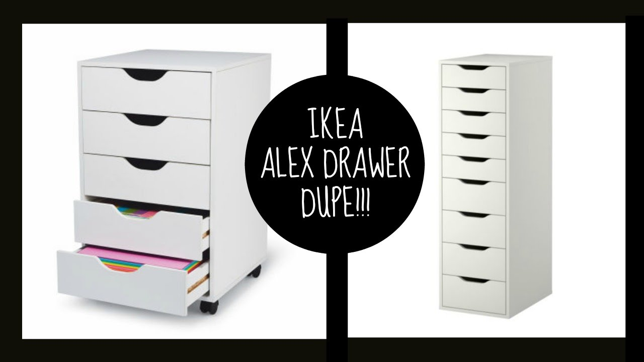 Dupe Ikea Alex Drawers Youtube