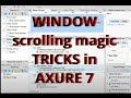 Window Scrolling Magic Tricks in Axure 7 (tutorial) - MeetupVideo.com