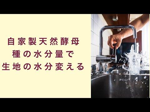 【自家製天然酵母】種の水分量でパン生地に使用する水分量も変える フルーツ酵母 自家製天然酵母 パン教室 教室開業 大阪 奈良 東京 福岡 名古屋