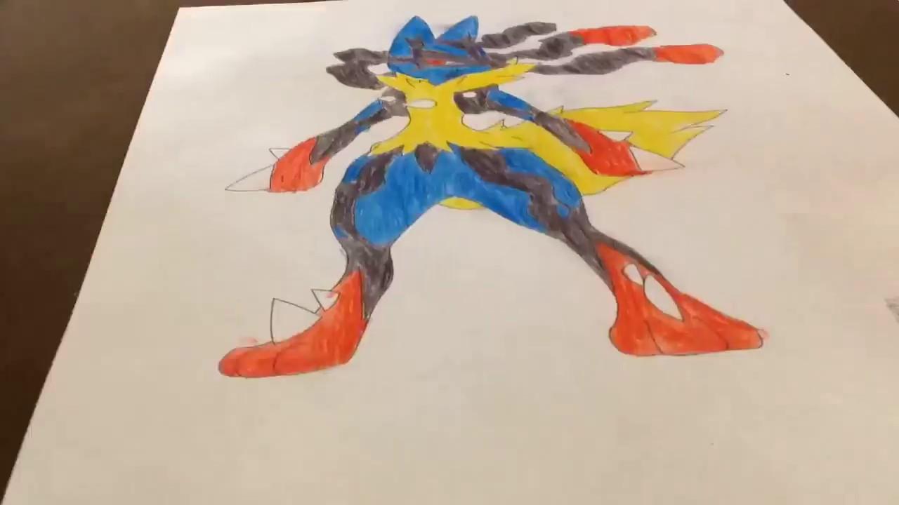 Coloring Mega Lucario
