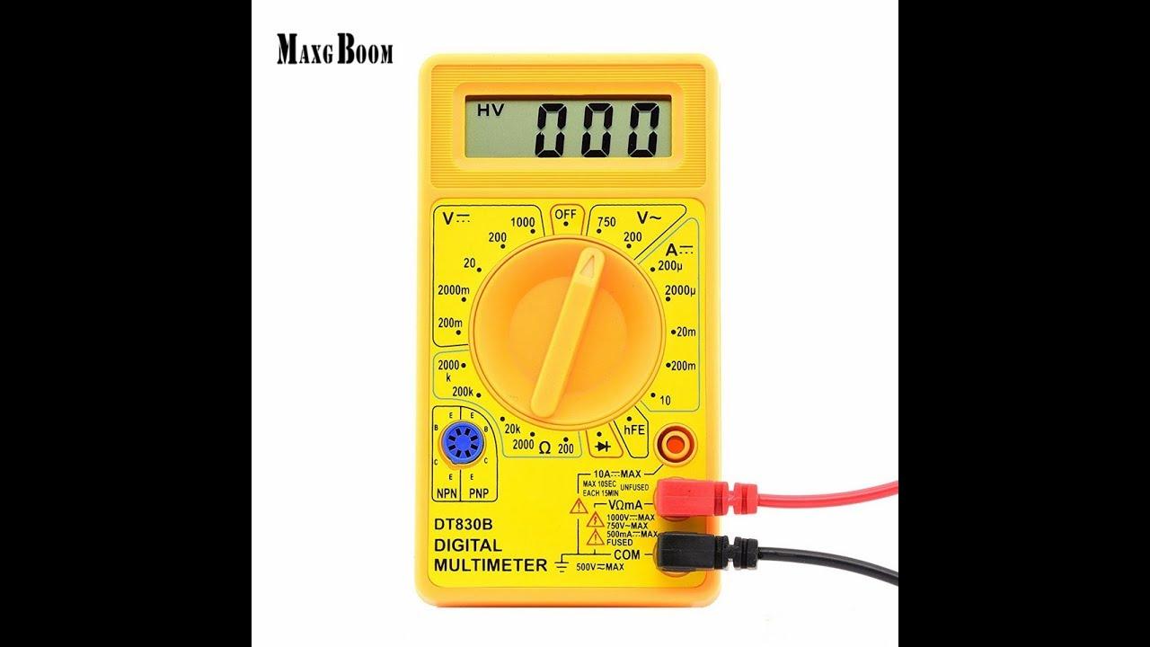 DT830B LCD Digital Voltmeter Ammeter Ohmmeter Multimeter Volt AC DC Tester Meter