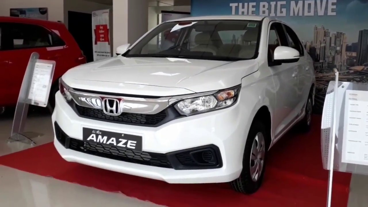2018 Honda Amaze White Orchid Pearl Exterior And Interior