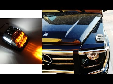 G Class G550 Led Turn G500 Amber W For Mercedes Signal Position G55 W463 Lights Lamps G63 White gb6fY7y