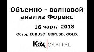 Объемно-волновой анализ Форекс 16.03.2018.  Обзор основных валютных пар.