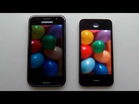 IPhone 4 Vs Samsung Galaxy S (GT-i9000) - PART 1