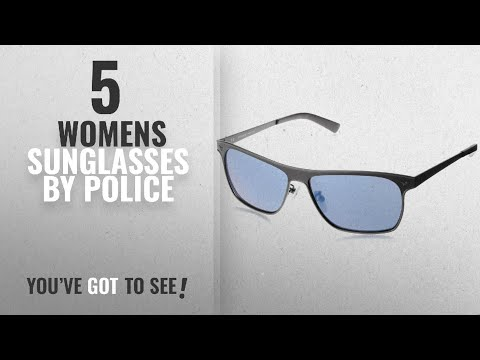 Top 10 Police Womens Sunglasses [2018]: Police Mirrored Square Unisex Sunglasses -
