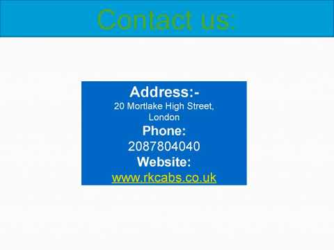 RK Minicab Services:- Providinf the best service for Taxi in London