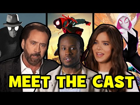 SPIDER-MAN INTO THE SPIDER-VERSE Voice Actors Behind The Scenes - Hailee Steinfeld Nic Cage