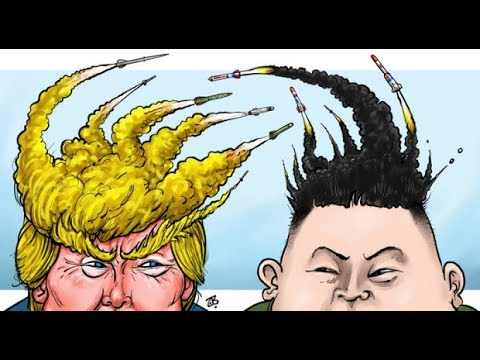 Cartoons Donald Trump Vs Kim Jong Un Usa Vs North Korea
