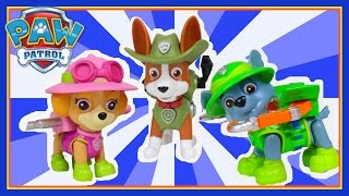 Paw Patrol Jungle Rescue toys unboxing - Paw Patrol Jungle Skye, Paw Patrol Jungle Tracker & Rocky