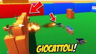 LE BATTAGLIE TRA I GIOCATTOLI NEI CASTELLI DA DEMOLIRE! - Wooden Battles ITA