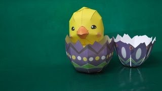 papercraft - stopmotion - Easter (Canon Papercraft) - dutchpapergirl