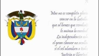 Himno Nacional de Colombia Completo X estrofa.flv