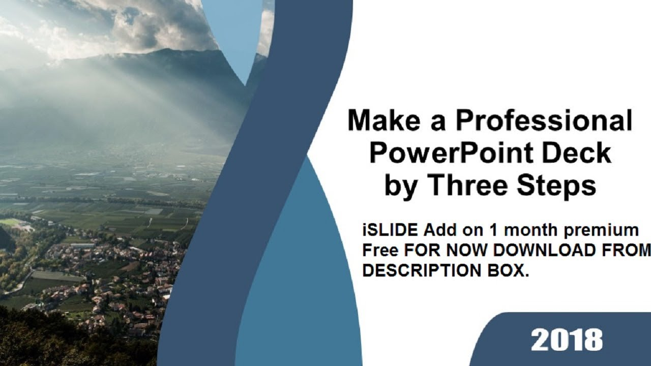 iSLIDE ADD ON FOR POWERPOINT || Customized PowerPoint deck by only three  steps