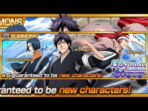 Bleach Brave Souls: Summons 13 Squads!!! Renji Yumichika e Kaien gameplays!!! Gacha 3% chegando!!! - Omega Play