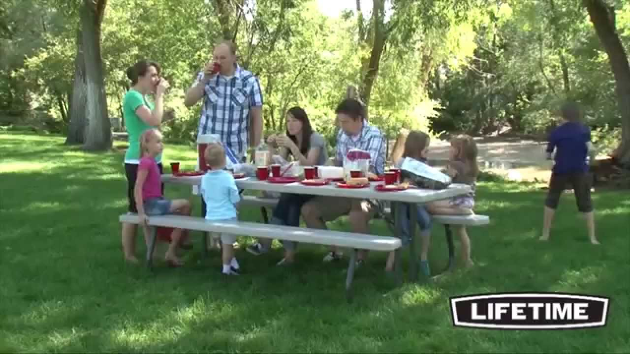 Lifetime picnic tables 880123 commercial folding picnic for 10 person picnic table