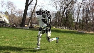 Getting some air, Atlas? Jogging robot.