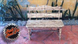 DIY| Como hacer una Banca de Madera / #RecicladoChallenge