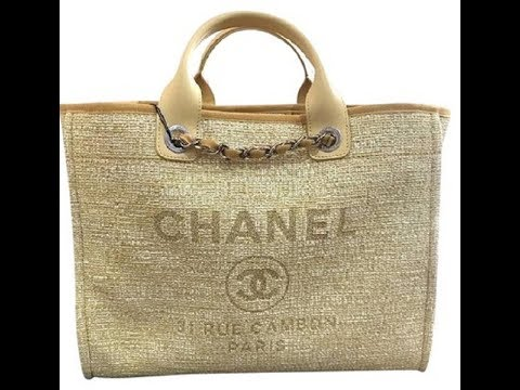 d7e0fe8bb9e6 Chanelbags Chanel 2018 Deauville Rue Cambon Tweed Yellow Tote review ...