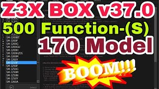 Z3x Box-latest V37.0 Repair Imei A10,a20,a30,a50,m10,m20,j4,j6,added 510 Function S