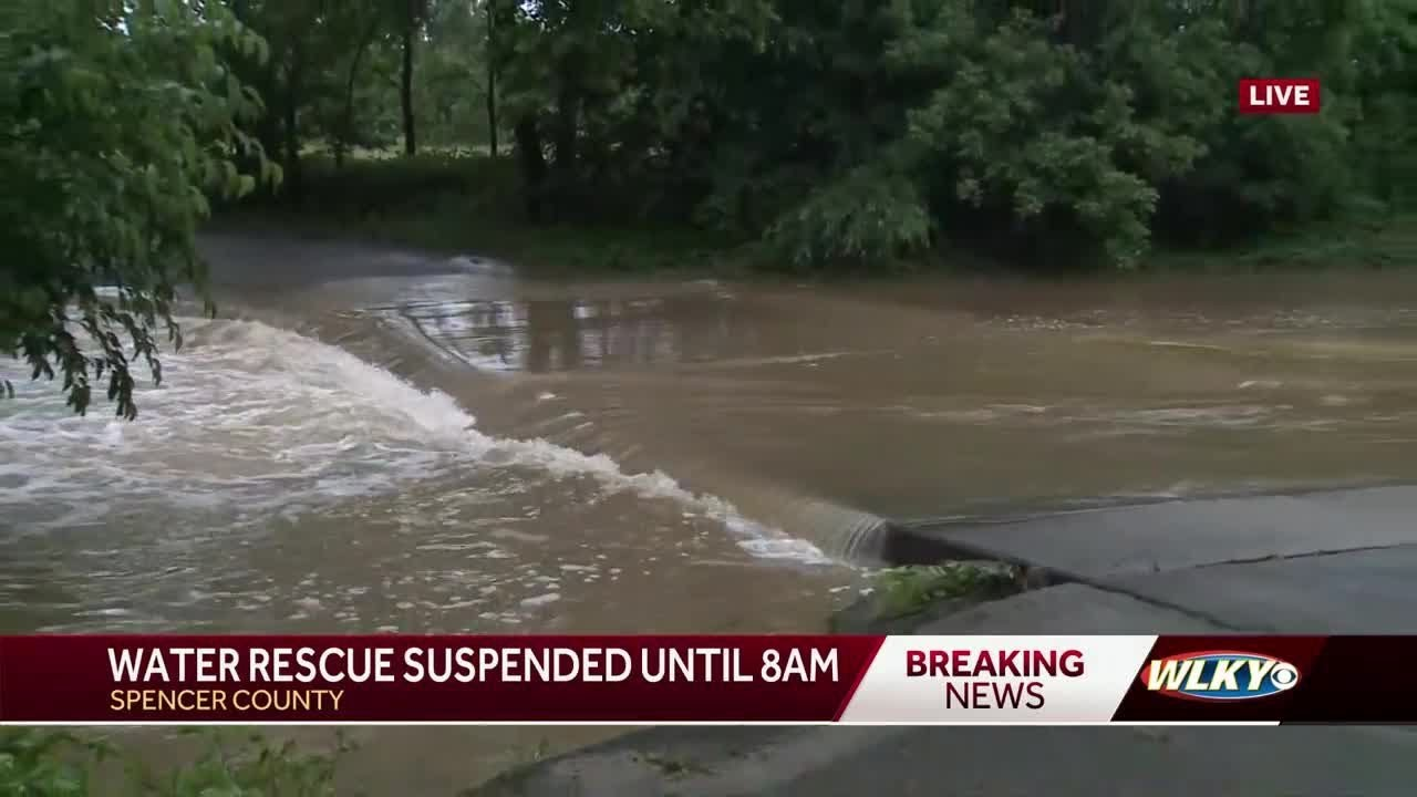 Water rescuce underway in Spencer County