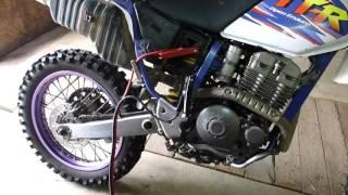 Yamaha TTR-250 Open Enduro холодный запуск.