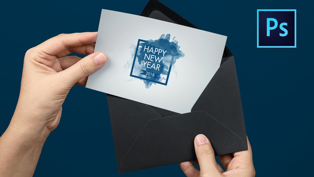 How to design Happy New Year Greeting Card in Photoshop cc ...