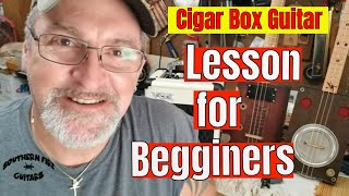 Cigar Box Guitar - Learn to play this Cool Riff. LESSON for Beginners