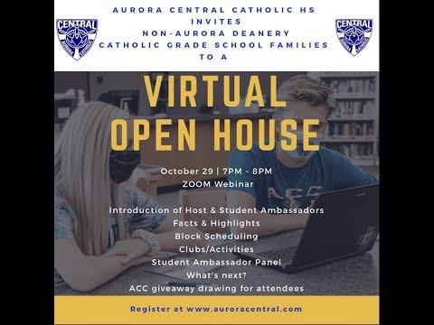 "Aurora Central Catholic High School's ""virtual"" Open House for Non-Aurora Deanery Catholic schools!"