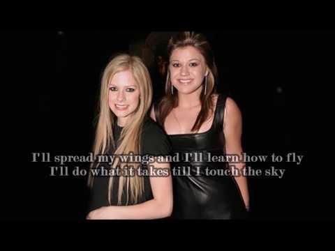 Avril Lavigne & Kelly Clarkson - Breakaway Chorus Version (lyrics)
