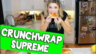 TACO BELL CRUNCHWRAP SUPREME // Grace Helbig