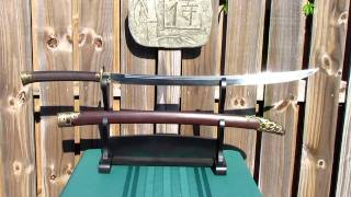 "HAZAMA YAKIBA Forge Folded War Dao ""SWORD OF THE GREAT NORTHERN WIND"""