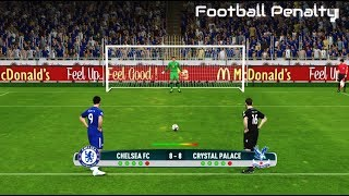 Chelsea vs Crystal Palace | Penalty Shootout | PES 2017 Gameplay