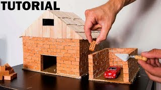 HOW TO BUILD A BRICK WALL: BRICKLAYING MINI HOUSE and GARAGE