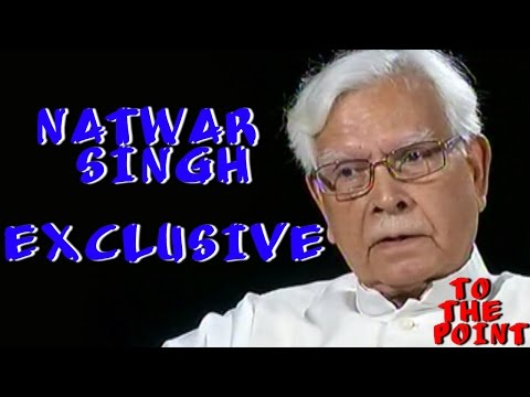 To The Point - Karan Thapar - To The Point: Natwar Singh reveals all: Gandhi family secrets out in the open -I