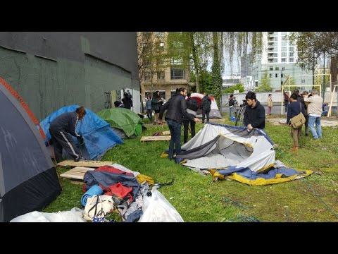 Vancouver tent city erected in same spot 10 years later