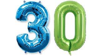 Фольгированые шары цифры с Aliexpress Товары с Алиэкспресс воздушные цифры