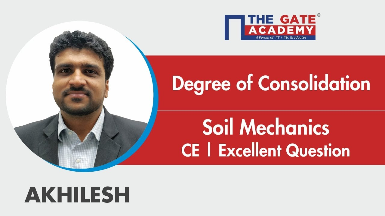 Degree of Consolidation | Excellent Question | Soil Mechanics | CE
