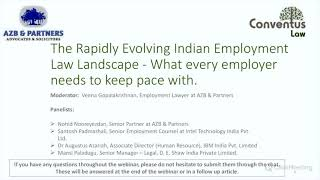 Webinar - The Rapidly Evolving Indian Employment Law Landscape