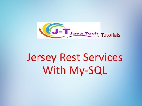 Jersey Rest Services With My-SQL