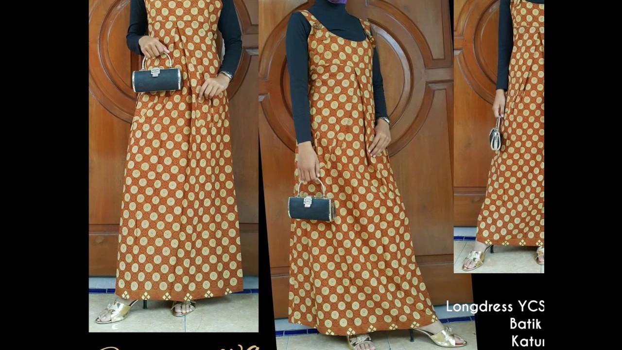 WA 9, Gambar Model Gamis Batik Kombinasi Muslim, Model