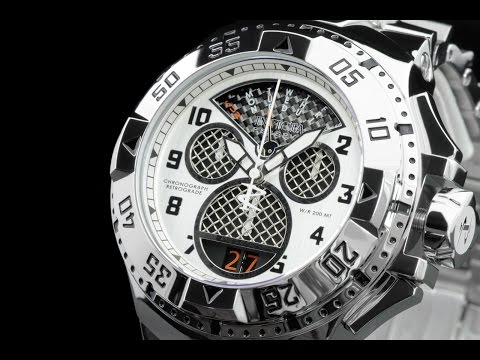 Invicta 17468 50mm Reserve Excursion Twisted Metal Dial Swiss Chronograph Bracelet Watch
