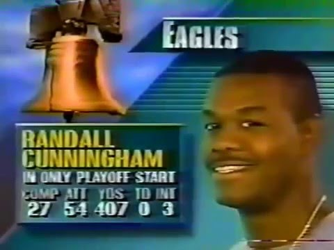 Eagles vs Rams NFC Wild Card 1989 Part 1 clip1