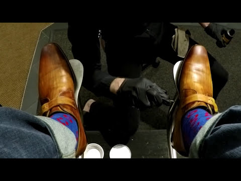 PHISH socks and phresh shines, Shoe Shine, ASMR