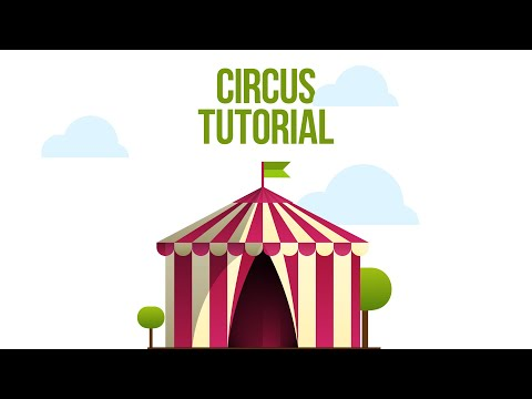 Circus arena | 10 minute tutorial of vector Illustrations | Adobe Illustrator + free download thumbnail