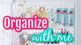 #withme How to Organize Sewing Tools with IKEA Peg Boards
